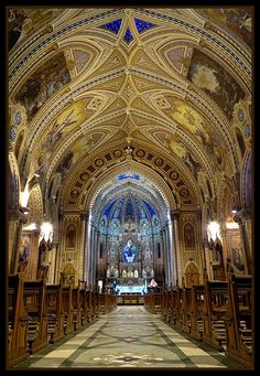 Basilica of St. Anthony Embaré in Santos-SP - Brazil by Berenice Kauffmann Abud Beautiful Buildings, Beautiful Places, Places To Travel, Places To Visit, Ceiling Art, Church Interior, Religious Architecture, Windsor Castle, South America Travel