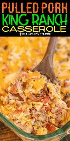 Shredded Pork Recipes, Pulled Pork Recipes, Recipes With Pulled Pork Leftovers, Leftover Pork Recipes, Recipe For Leftover Pulled Pork, Pork Casserole Recipes, Casserole Dishes, Taco Casserole, Tex Mex
