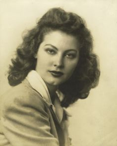Ava Gardner, while a student of Atlantic Christian College in North Carolina.