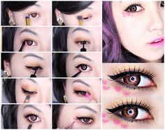 <3Tip: A KPOP look is not official until you add eye art! Using lipstick and a thin brush, go ahead and draw hearts around your eyes just like Sunny from SNSD/Girls Generation! Extremely important to go that extra mile! www.youtube.com/heyitsfeiii