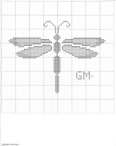 Dragonfly cross stitch pattern