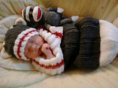Child Knitting Patterns Free knitting sample for Sock Monkey Snuggly and extra child sleep sack knitting patterns Baby Knitting Patterns Supply : Free knitting pattern for Sock Monkey Snuggly and more baby sleep sack knitting . Knitting For Kids, Loom Knitting, Knitting Socks, Knitting Patterns Free, Free Knitting, Knitting Projects, Crochet Patterns, Free Pattern, Sweater Patterns