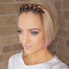 50 Waterfall Braid Inspirations You will Love, add some romantic and feminine vibe into your looks. If you are looking for a sophisticated braid, then here you fou. Box Braids Hairstyles, French Braid Hairstyles, Lob Hairstyle, French Braids, Long Box Braids, Braids For Short Hair, Girl Short Hair, Short Hair Cuts, Side Braids