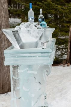 Ice bar and ice sculptures: Ice Culture Inc. | Photography: Paul & Sylvia | Photography & Design