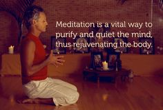 Meditation is a vital way to purify and quiet the mind, thus rejuvenating the Body. 🌻🌻 #MorningQuote #YogaInspiration #MediYogi