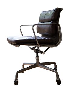 Eames Original Soft Pad Office Chair. Original Chair, professionally restored by an Eames furniture specialist.