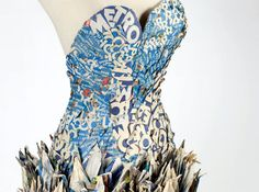 Artist Creates Wearable Dress Out of 1,000 Newspapers