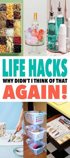 Life Hacks that you will really use in every day life and they will make you want to say Why Did't I Think of that!