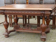 neoreneszánsz bútor, eladó antik bútorok, ónémet stílus Dining Table, Rustic, Modern, Furniture, Google, Home Decor, Dinner Table, Shelf, Country Primitive