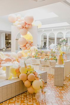 Pretty pastel balloon arch and installation. Photo: @lizbarnesphoto First Birthday Parties, First Birthdays, Christening Party, Princess Tea Party, 100 Layer Cake, Shower Inspiration, Event Decor, Wedding Designs, Wedding Day