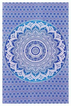 Blue Color Wall Hanging Table Throw Tapestry Poster 100/%Cotton Indian Art Decor