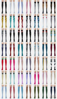 SIMS4 marigold: over knee socks collection_various version_unisex_ over your socks men socks various versions _