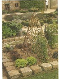 stone border at the Bois Richeaux, a medieval garden farm in France