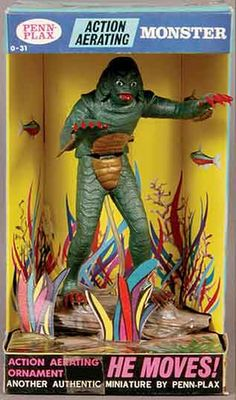 Creature from the Black Lagoon is a 1954 American Universal monster horror feature film directed by Jack Arnold (It Came from Outer Space; Cool Monsters, Famous Monsters, Classic Monsters, Retro Toys, Vintage Toys, Vintage Games, Antique Toys, Vintage Stuff, Retro Vintage