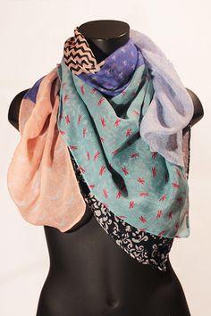 Sciarpa stampa patchwork multicolore. #portobelloathome  http://portobelloathome.com/?product=sciarpa-patchwork-multicolore