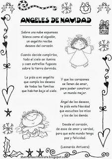 Poesías de navidad   http://esoslocosbajitosdeinfantil.blogspot.com.es/2013/12/poesias-de-navidad.html