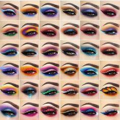 New Pattern Makeup Eyes Glamierre Enchanted Eyeshadow Palette eye makeup patterns - Eye Makeup Eye Makeup Steps, Makeup Eye Looks, Beautiful Eye Makeup, Eye Makeup Art, Crazy Makeup, Eyeshadow Makeup, Beauty Makeup, Makeup Eyes, Eyeshadow Palette