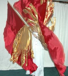 Praise And Worship Flags | Fire Flags will only come now in Habutai Silk.. Awesome flags and a great lady that makes them....  Flags for Him flags..