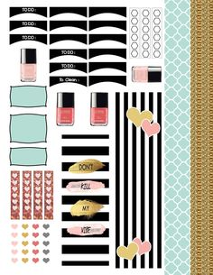 Free Printable Fashion Forward Planner Stickers at Planner Pickett