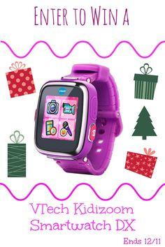 Enter to WIN a Vtech Kidizoom Smartwatch DX for Christmas! Ends 12/11 #giveaway