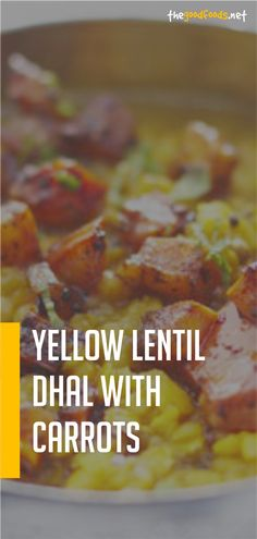 Yellow Lentil Dhal With Carrots Recipe Carrot Recipes, Spicy Recipes, Greek Recipes, Vegan Recipes Easy, Pork Recipes, Fish Recipes, Baby Food Recipes, Slow Cooker Recipes, Appetizer Recipes