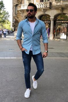 30 Hot Men's Fashion Style Outfit Ideas to Impress Your Girl Shake that bacon is part of Mens clothing styles - Trendy Mens Fashion, Mens Fashion Suits, Stylish Men, Men Casual, Men's Fashion, Fashion Ideas, Men's Spring Fashion, Cheap Fashion, Fashion Boots