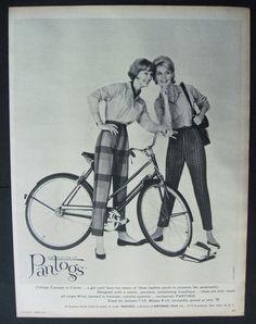 Vintage College Girl on a bike Glamour Girls by VintageAllianceAds