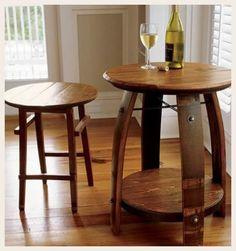 ideas para decorar con barricas de vino
