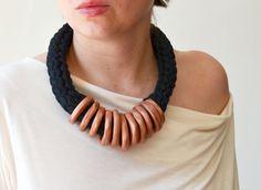 Modern Necklace Copper Necklace Chunky Necklace by IKKX on Etsy, €35.00