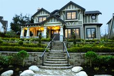 A charming mix of styles in Vancouver - Craftsman style shines through with Tudor influences, and Shingle Style elements such as the eyebrow dormer...