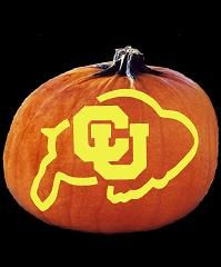 University of Colorado Buffaloes pumpkin carving logo