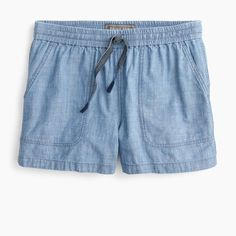 Shop J.Crew for the Seaside short in chambray for Women. Find the best selection of Women Shorts available in-stores and online. Discount Mens Clothing, Crew Clothing, Stretch Chinos, Slim Fit Pants, Cashmere Sweaters, Warm Weather, Chambray, Kids Outfits, J Crew