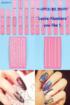 [Visit to Buy] 1 Piece Beauty Women Manicures Polish Tip Tool 3D 24 Pattern Designs Selected White Rose Flower Lace Nail Art Nail Decal Sticker #Advertisement