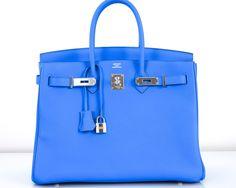 HERMES BIRKIN BAG 35CM BLUE HYDRA 35CM