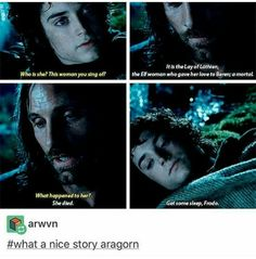 Really poetic there, Aragorn.