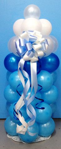 Baby bottle balloon columns boy baby shower balloon for Baby bottle balloon decoration