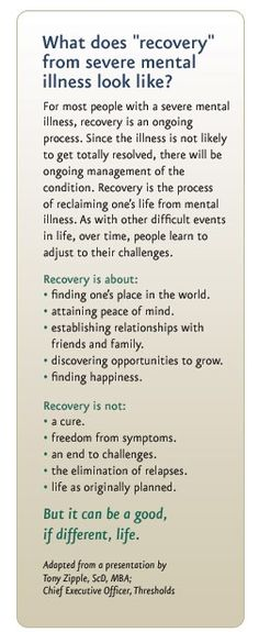 Understanding mental illness recovery | PsychHealth