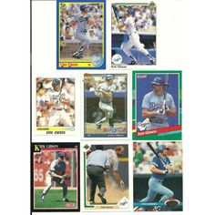 HUGE 50 + different KIRK GIBSON cards lot Tigers Dodgers Royals Diamondbacks