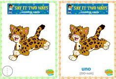 """Help your preschooler learn Spanish with Diego's """"Say it Two Ways"""" counting cards! #NickJr"""