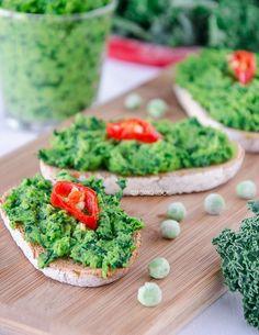 Tostas de guisantes (chícharos) | #Receta de cocina | #Vegana - Vegetariana ecoagricultor