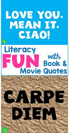 Ramp up your literacy fun with this strategy for using book and movie quotes. My blog post includes some favorites and different ways to use them.