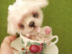 WUNSCHANFERTIGUNG:Malteser-B... von Ute´s Herzbären , Ute´s Herz- Filzies,Ute´s OOAK- Fiemelchen auf DaWanda.com