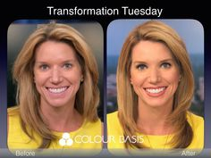 The folks at Colour Basis know that the right lip color and eye makeup can be an instant makeover for TV news talent. News Anchor, Great Hairstyles, Transformation Tuesday, New Media, Lip Colors, Coaching, Eye Makeup, Lips, Colour