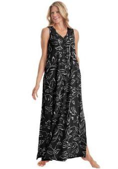 Dreams Co Plus Size Knit Lounger (Black Print,3X) Dreams Co. $17.49