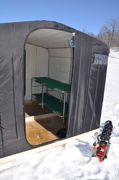 Fabric and metal leading manufacture of custom boat covers, awnings, industrial fabric, shade, repairs and fabric event structures. Ice Fishing Tent, Ice Fishing Shanty, Ice Shanty, Fishing Shack, Bass Fishing Shirts, Fishing Lures, Fishing Tips, House Tent, Ice Houses