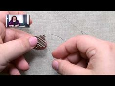 Learn How to Add New Beading Thread with a Slipknot from Melanie Potter - YouTube