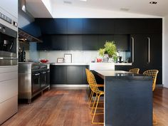 modern black kitchen cabinets / modern interiors #design lagerlings