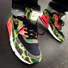 shoes nike nike shoes air max nike sneakers red camouflage <3