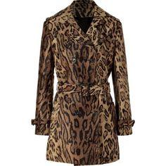 Brown Leopard Woven Coat