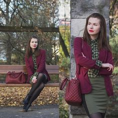 GREEN, BLACK AND BURGUNDY  by Paulina R., 24 year old blogger/ stylist from Gdańsk, Poland, Poland